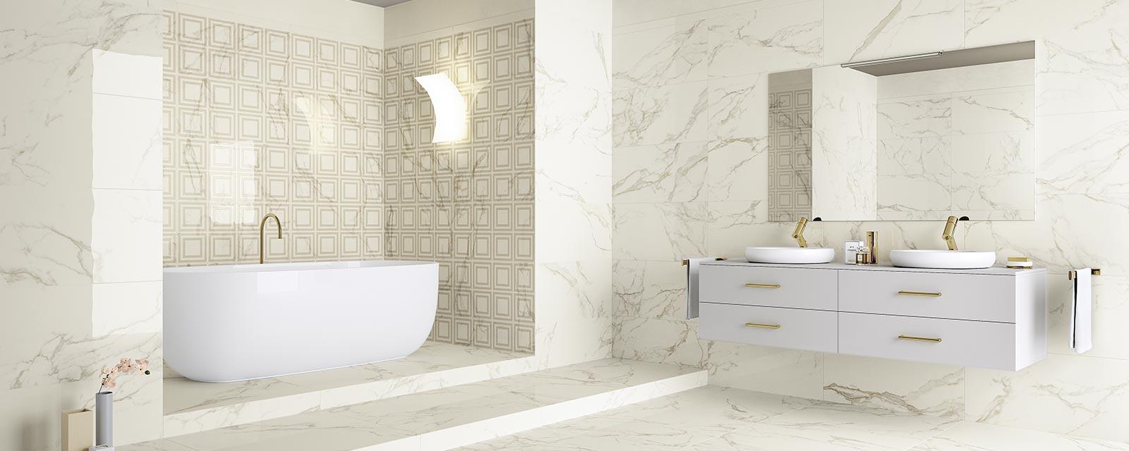 Faience Vert D Eau agrandir sa salle de bains à l'aide du carrelage | guide artisan